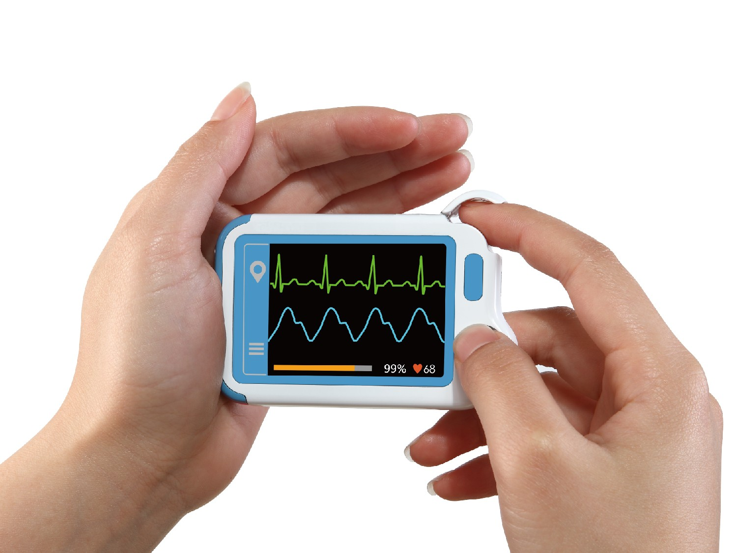 Portable ECG Monitor with Color LCD Touchscreen